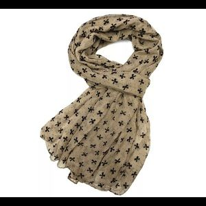 Bow Print Scarf by East Cloud